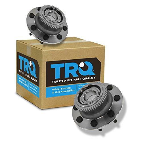 TRQ Front Wheel Hub & Bearing LH & RH Pair Set for 00-02 Dodge Ram 2500 3500 2WD Dodge All Wheel Drive