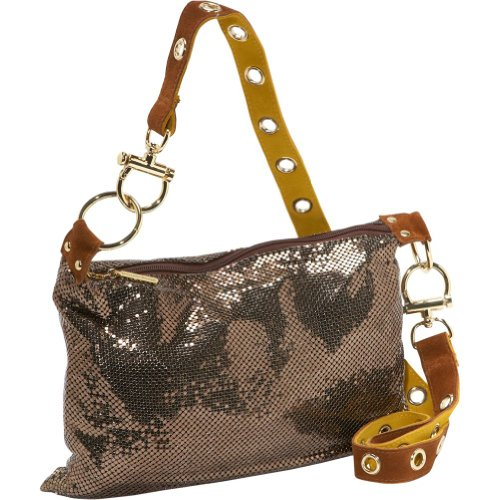 Whiting and Davis Women's Grommet Redux 1-8847BZ Cross Body,Bronze,One Size, Bags Central