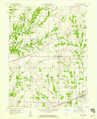 YellowMaps Coatesville in topo map, 1:24000 Scale, 7.5 X 7.5 Minute, Historical, 1958, Updated 1959, 27 x 22 in - Paper