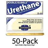 Hardman/Kalex #04023 - Double Bubble Urethane Adhesive Blue/Beige-Label D85 High Shear Strength - 50-Pack