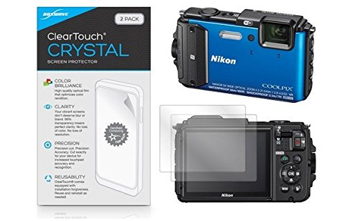 Nikon Coolpix AW130 Screen Protector, BoxWave® [ClearTouch Crystal (2-Pack)] HD Film Skin - Shields From Scratches for Nikon Coolpix AW130