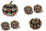 Heidi Daus Harlequin Pumpkin Pin/Earrings Set EXQUISITE SWAROVSKI GREAT CONVERSATION STARTER FOR THANKSGIVING!!!