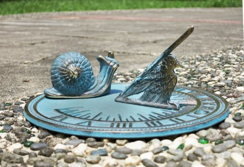 Decorative Brass Snail Sundial 7'' inches wide by Taiwan