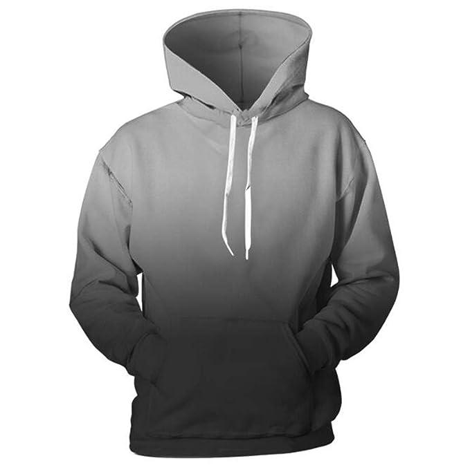 Gris Negro Sudaderas para Hombres Ropa de gradiente Sudadera Pullover Cap Sudadera de Color sólido Casual con Capucha Streetwear Arriba: Amazon.es: Ropa y ...