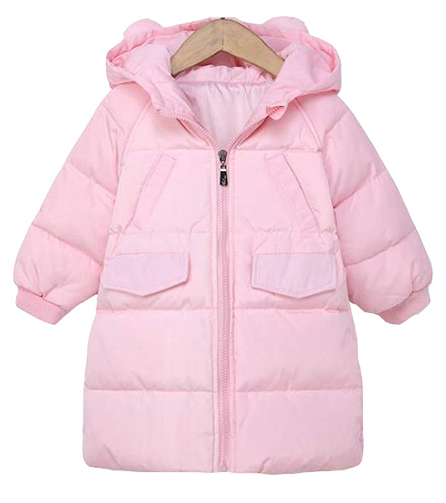 TuGui Baby Boys Girls Winter Lightweight Mid-Length Hoodies Down Jacket Packable Coats