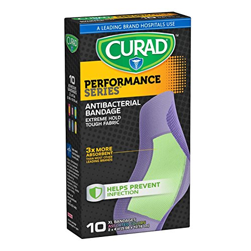 Curad Performance Series Antibacterial Adhesive Bandages, 30 Count (Pack of 8) (Curad Performance Series compare prices)