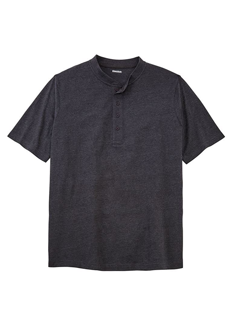 KingSize Men's Big & Tall Shrink-Less Lightweight Henley Tee