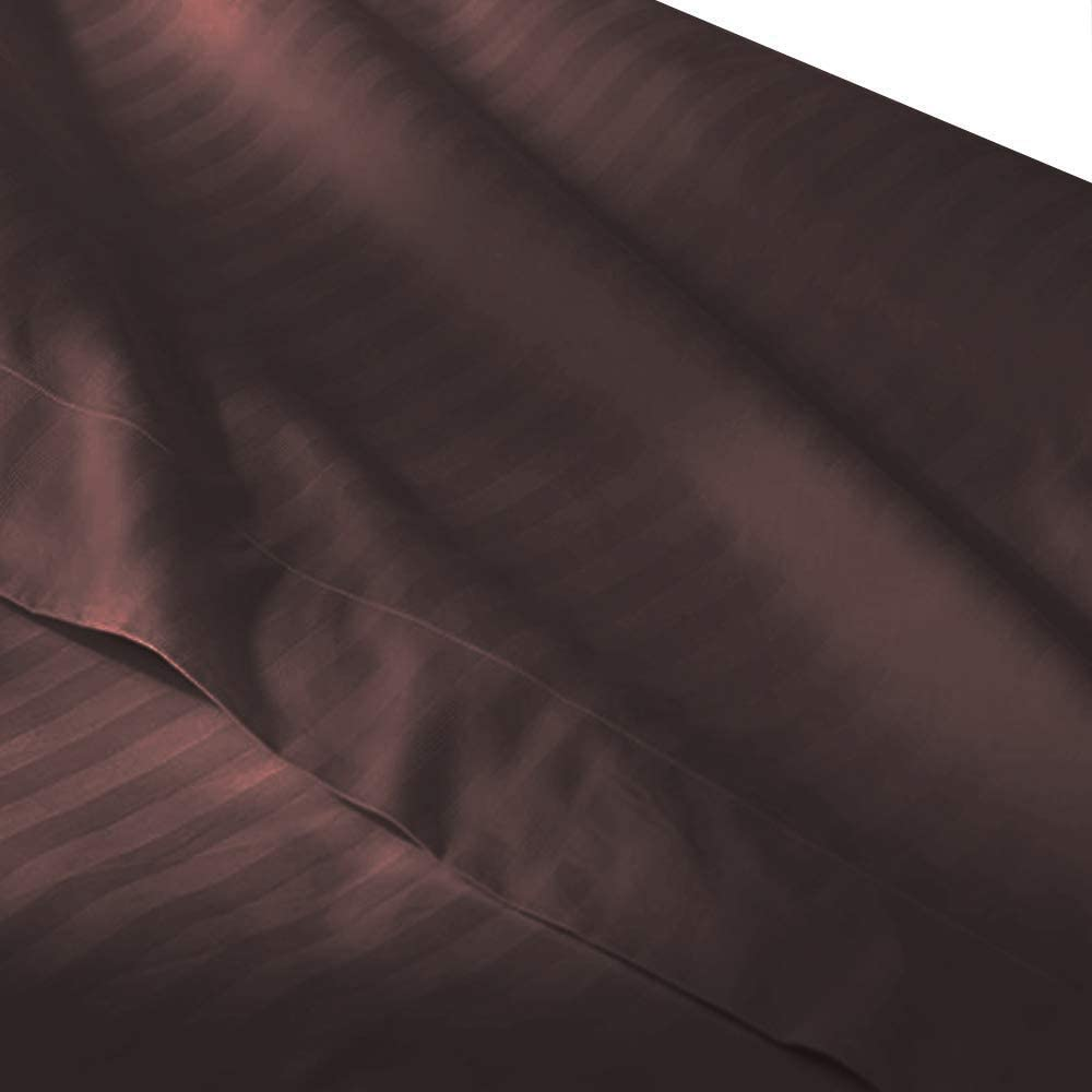 100/% Cotton 300 Thread Count 54 W x 76 L sheetsnthings-Luxury Black Full Size Fitted Sheet Sold Separately
