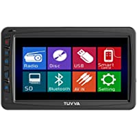 TUVVA KSD7750B Oversized Car Multimedia Receiver 1-Din 7-inch Motorized Touchscreen DVD / CD / USB / SD / AUX-IN / MP4 / MP3 Player RDS Radio Bluetooth with Remote Control
