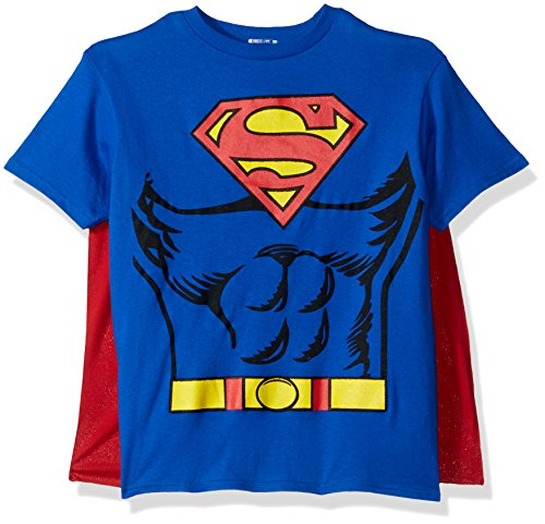 (Justice League Child's Superman 100% Cotton T-Shirt - Small)