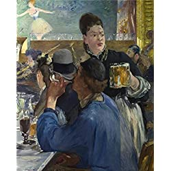 High Quality Polyster Canvas ,the Cheap But High Quality Art Decorative Art Decorative Canvas Prints Of Oil Painting 'Edouard Manet - Corner Of A Cafe-Concertt,probably 1878-80', 24x30 Inch / 61x76 Cm Is Best For Kids Room Decoration And Home Decoration