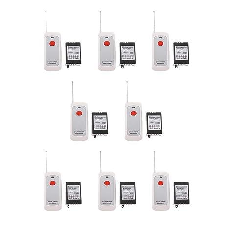 kesoto 8 Pieces Wireless RF Remote Control Switch, DC 12V
