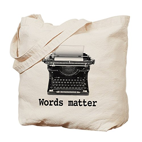 Words Matter Natural Canvas Tote Bag
