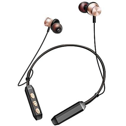 DS-Mart Auriculares inalámbricos magnéticos auriculares Bluetooth estéreo, mejores auriculares deportivos inalámbricos HD Auriculares