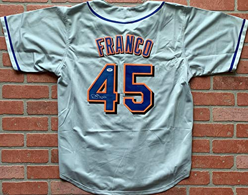 John Franco autographed signed jersey MLB New York Mets PSA COA ()