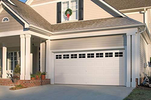 Garage Door Decorative Hardware, 35-Pcs DIY Magnetic Faux Windows PVC Small Panels Non-Fade Weather Resistant Kits Perfect for All Season Decoration and Easy Installation, Two Car Metal Garage Door for $<!--$27.99-->