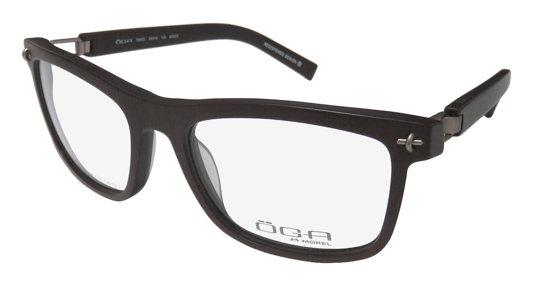 Oga By Morel 7926o Mens Designer Half-rim Flexible Hinges Prestigious Hot High-end Eyeglasses//Eye Glasses