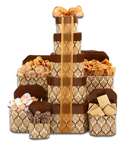 Autumn Gift Tower | Almond Roca, Taffy, Peanut Brittle, Gourmet Popcorn & More