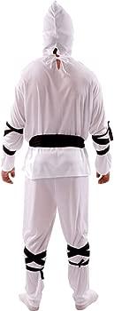 Disfraz de Ninja Blanco: Amazon.es: Juguetes y juegos