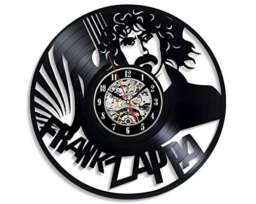 Levescale - Frank Zappa Vinyl Wall Clock - Express Shipping Bobby Brown - Perfect Music Gift for Boy Or Man - Decoration for Living Room, Cafe - Retro Composers Hologram Art Classical (The Best Of Frank Zappa 2019)