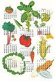 2018 vegetable Calendar wall calendar poster 13 x 19 inches