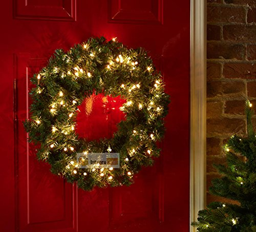 Prelit Christmas Wreath.Luxury Pre Lit Christmas Wreath Led Light
