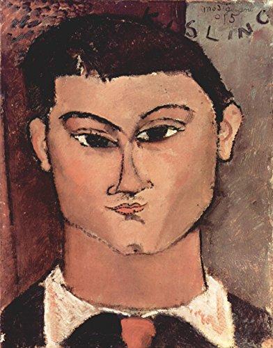Amedeo Modigliani - Portrait of Moise Kisling, Size 11x14 inch, Canvas art print wall décor