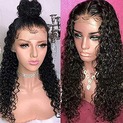 - 13x6 Curly Lace Front Human Hair Wigs for Black Women with Baby Hair Brazilian Virgin Hair 130% Full Lace Wigs Pre-plucked Hairline African American Women Lace Wigs (10 inch, 13x6 Lace Front Wig)