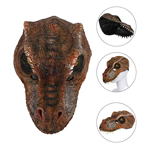 Outgeek Cosplay Mask Halloween Party Mask 3D Animal Dinosaur Decorative Scary Outfit -