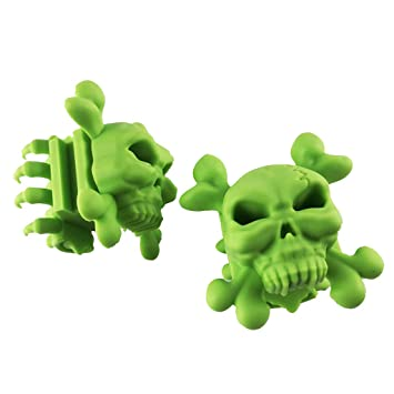B Baosity 1 Pair Quality Rubber Archery Equipment Skull Limb Damper for Compound Bow