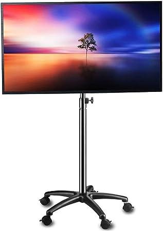 YUIOLIL Mini TV Soporte de Piso 14-37 Pulgadas Pantalla Plana LED LCD Pantallas de Plasma Pantalla portátil Altura Ajustable: Amazon.es: Hogar