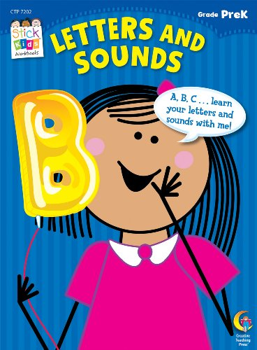 Letters and Sounds Stick Kids Workbooks, Grade PreK
