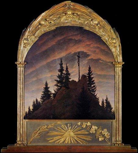 Dipinto A Mano Pittura A Olio Caspar David Friedrich Cross In