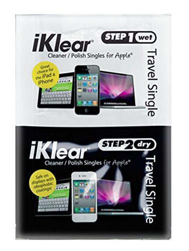 iKlear 100 Bulk Pakc Travel Singles With Antimicrobial Microfiber Polishing (Iklear Travel Singles)