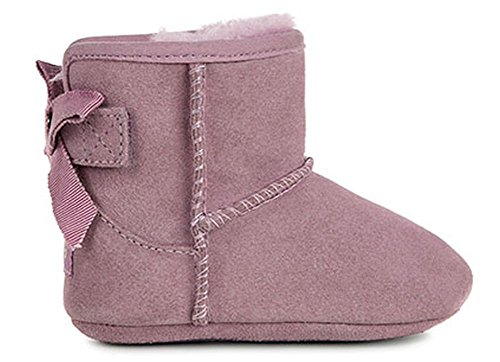 UGG Kids Baby Girl's Jesse Grosgrain Bow (Infant/Toddler) Shadow Boot MD (US 4-5 Toddler) M