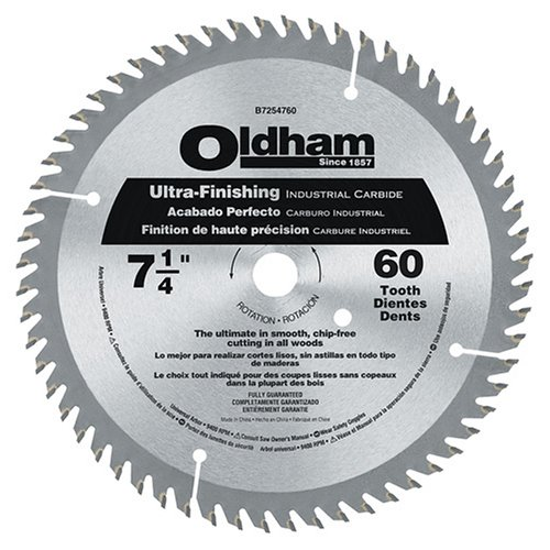urpose 7-1/4-Inch 60 Tooth ATB Finishing Saw Blade with 5/8-Inch and Diamond Knockout Arbor (Oldham Circular Saw Blade)