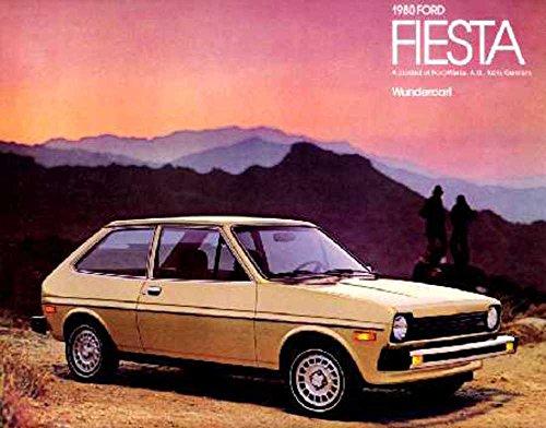 1980 Ford Fiesta Sales Brochure Literature Book Piece Dealer Advertisement