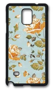 MOKSHOP Adorable Golden Petals Hard Case Protective Shell Cell Phone Cover For Samsung Galaxy Note 4 - PCB