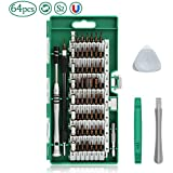 Precision Screwdrivers Set,Lifegoo 64 in 1 Mini S2 Steel Magnetic Driver Bits Repair Tool Kit for iPhone/Ipad/MacBook PC Game/Xbox ONE/360 PS3 PS4/NS Switch/Camera/Toys/Watches & Eyeglasses Ect -Green