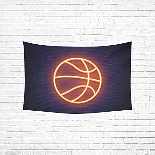 - Jnseff Tapestry Basketball Neon Icon Design Element Tapestries Wall Hanging Flower Psychedelic Tapestry Wall Hanging Indian Dorm Decor for Living Room Bedroom 6040inch