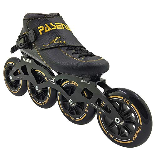 - PASENDI Speed Skating Shoes Children's Professional Roller Skates Carbon Fiber Inline Skate Shoes 4 Wheels Skates for Men and Women (Black, US11/EU44)