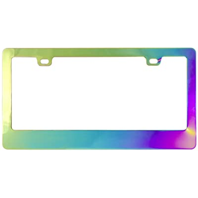 Custom Accessories Chrome Chameleon License Plate Frame: Automotive