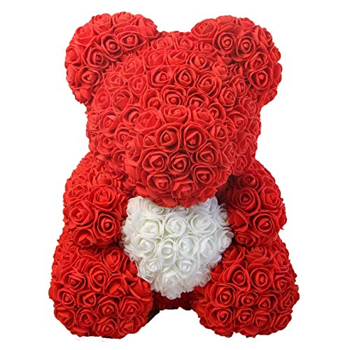 Rose Bear - Anniversary, Best, Perfect & Unique Gift Ideas for Lovers, Women, Men, Teen, Wife, Husband, Him, Her, Teen - 40cm