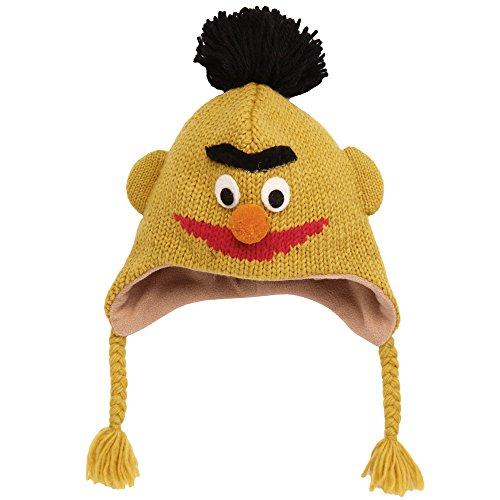 Sesame Street Bert Kids Wool Pilot Hat with Ear (Bert Hat)