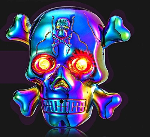 Aibote Electric Cigarette Skull Lighter,USB Rechargeable Windproof Flameless Lighter with LED Light and Creepy Background Sound, Idea for Halloween, Christmas, Business and -
