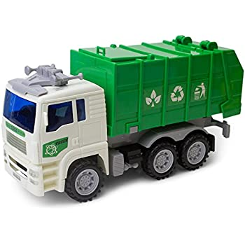 14 oversized friction powered recycling garbage truck toy for kids with side. Black Bedroom Furniture Sets. Home Design Ideas