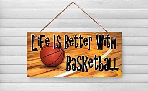 Norma Lily Letrero de madera de baloncesto, regalo para amante del ...