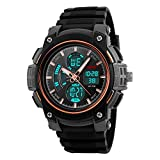 Mens Boys Watches Digital Sports Watch Electronic Military Divers Watch 50M Waterproof Electronics LED Lights Black Rubber Band Simple Fashion Design Business Casual Watches (ROSE GOLD)