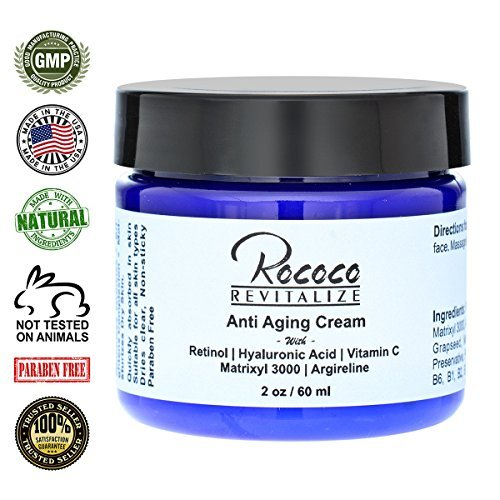 Anti Aging Cream with Retinol Vitamin a Hyaluronic Acid a...
