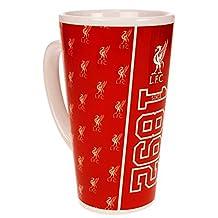 Liverpool FC Official Established Football Crest Latte Mug (One Size) (Red/White)